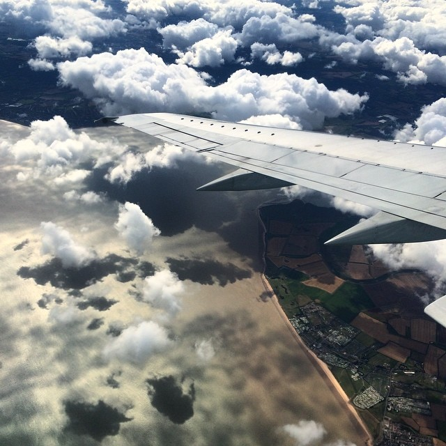 Photograph airplane wing